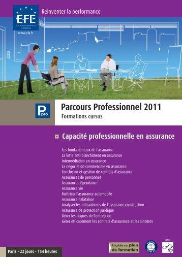 Capacité professionnelle en assurance - Efe