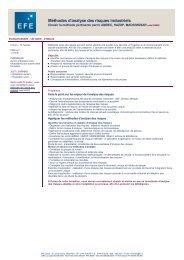 Méthodes d'analyse des risques industriels - EFE