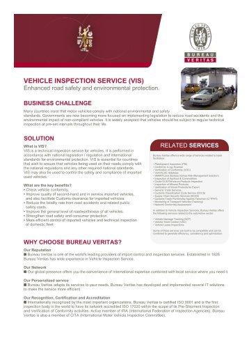 VEHICLE INSPECTION SERVICE (VIS) - Bureau Veritas