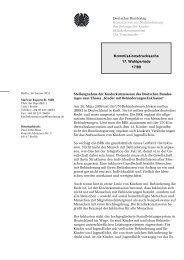Kinder mit Behinderungen/Inklusion - Deutscher Bundestag