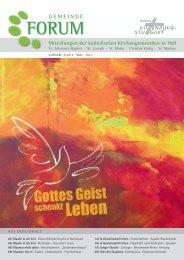 Ausgabe 3/2013 Mai - Juli 2013 - Gesamtkirchengemeinde Schwäbisch Hall