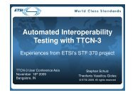 Automated Interoperability Testing with TTCN-3