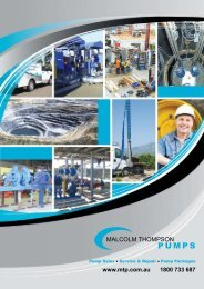 Download Corporate Profile - Malcolm Thompson Pumps