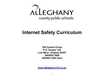 ACPS Internet Safety Curriculum - Alleghany County Public Schools