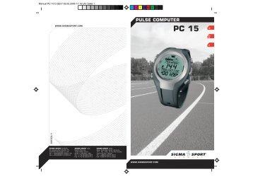 Manual PC 15 D,GB,F - voor de fiets