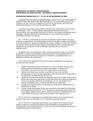secretaria de defesa agropecuária ministério da ... - CRMV-PR