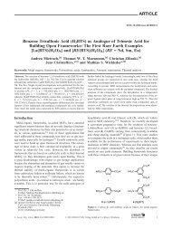 Benzene Trisulfonic Acid - Organische Chemie - Christoffers