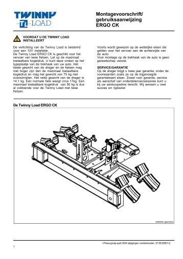 Montagevoorschrift/ gebruiksaanwijzing ERGO CK - Alles voor de fiets