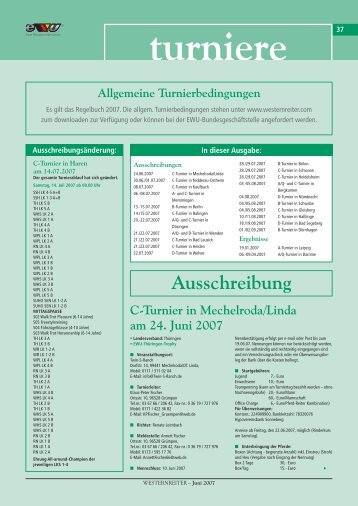 A/Q- und C-Turnier in Dösingen am 20.-22. Juli 2007