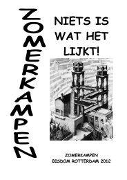 Folder Zomerkamp 2012 - Bisdom Rotterdam