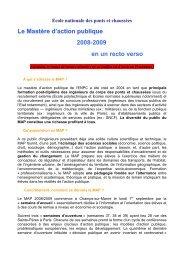 MAP 2008-2009 recto verso - École des Ponts ParisTech - ENPC
