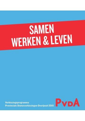 Verkiezingsprogramma-PvdA-Overijssel-2015-2019