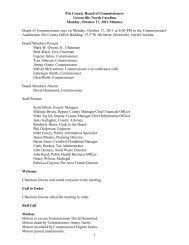 October 17 (Regular Meeting) - Pitt County Government