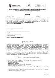 wzór umowy na uczestnictwo w projekcie + załączniki