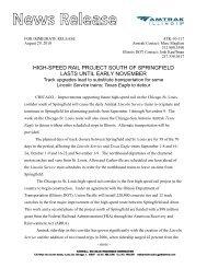 Amtrak Passenger Service Notice - Official IDOT Illinois High Speed ...