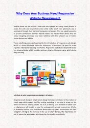 Why Does Your Business Need Responsive Website Development