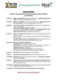 Programm Autofreier Tag und offizielle Eröffnung Kletterzentrum ...