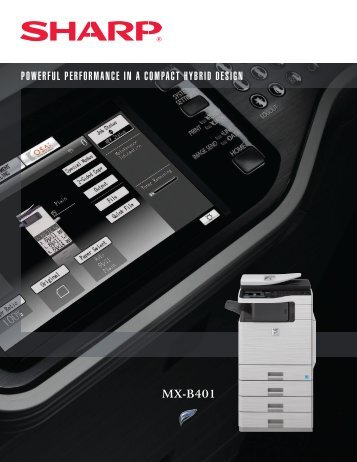 MX-B401 Brochure - West Equipment