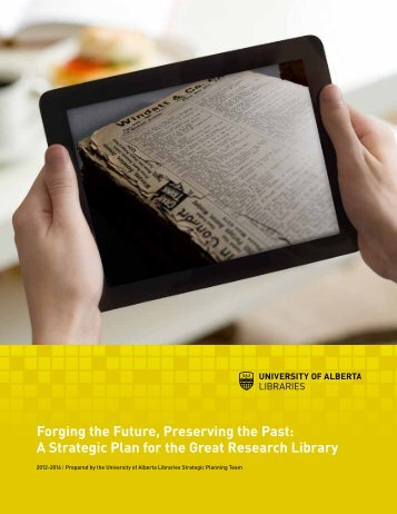 Forging the Future, Preserving the Past: A Strategic Plan for the ...