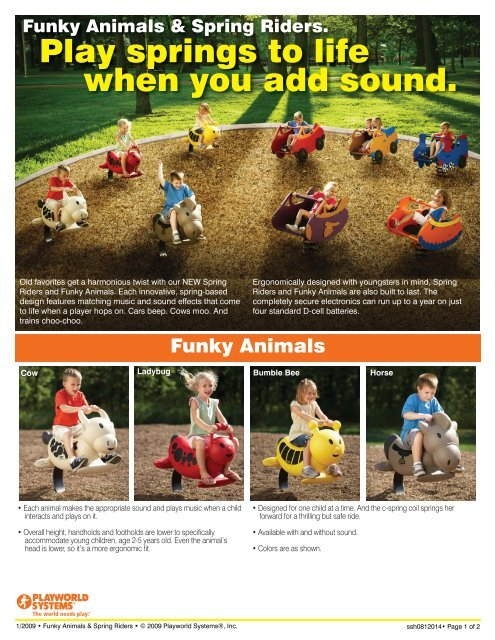 Funky Animals and Spring Riders - with sound!!! - Playmore