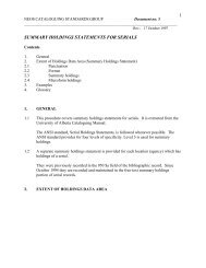 Cataloguing Standards Document 5 - NEOS Library Consortium
