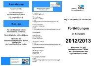 Fortbildungen im Schuljahr 2012/2013 Angebote ... - vds-dortmund.de