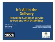 It's all in the delivery - NEOS Library Consortium