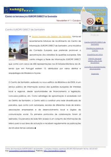 NewsLetter nº 1 - Europe Direct Santarém - Escola Superior de ...