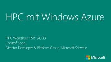 HPC mit Windows Azure