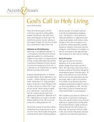 God's Call to Holy Living - Brethren in Christ Church
