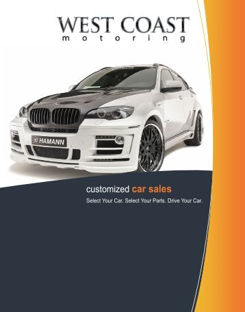 customized car sales - West Coast Motorsport, Inc.