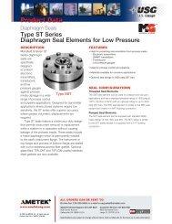 USG Type ST Series Diaphragm Seal - PEC-KC.com