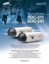 1/3˝ Color CCD Camera SDC-311 SDC-241 - SamsungNAC.co.za