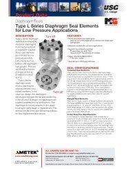 USG Type L Series Diaphragm Seal Elements - PEC-KC.com