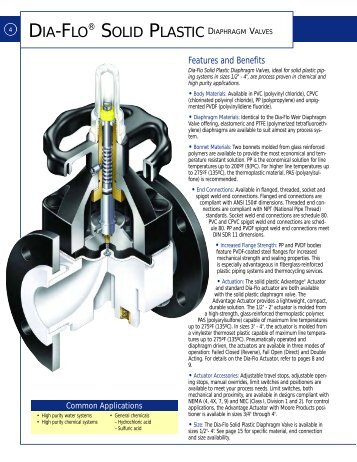 Weir valve selections dia flo diaphragm valves itt engineered itt dia flo plastic diaphragm valve pec kc ccuart Gallery