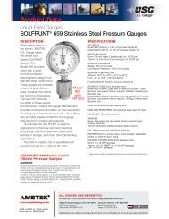 SOLFRUNT® 659 Stainless Steel Pressure Gauges - PEC-KC.com
