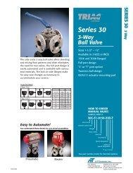 Series 30 3-Way Ball Valve - FloSource   Valves