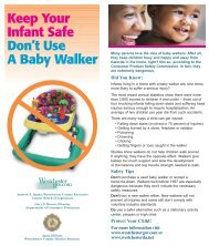 Keep Your Infant Safe Don't Use A Baby Walker - Westchester County