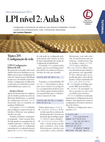 LPI nível 2: Aula 8 - Linux New Media