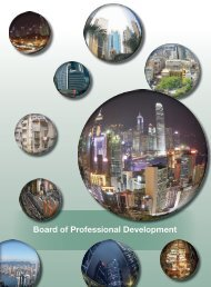 Board of Professional Development - Hong Kong Institute of Surveyors