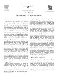 Multi-dimensional image processing - University of Toronto