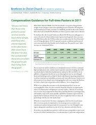 Compensation Guidance for Full-time Pastors in 2011 - Brethren in ...