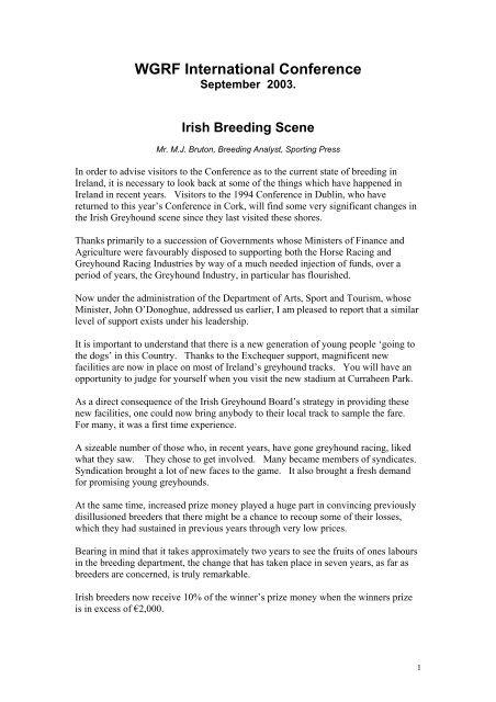 Irish breeding scene pdf - Greyhound-Data