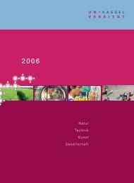 Bericht 2006 // Universität Kassel