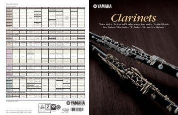 Yamaha Clarinets  - Ozwinds
