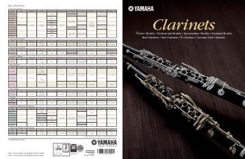 Yamaha Clarinets  - Ozwinds