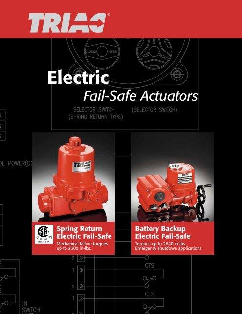 triac failsafe electric valve actuators - rm headlee