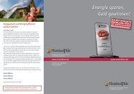 Energie sparen, Geld gewinnen! - Rheinland-Pfalz