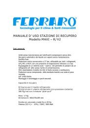 MANUALE D' USO STAZIONE DI RECUPERO Modello MAXI – R/V2