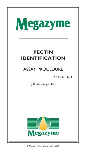 PECTIN IDENTIFICATION - Megazyme